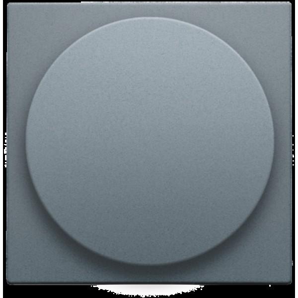 Afwerkingsset voor draaiknopdimmer of extensie, incl. draaiknop, alu steel grey coated