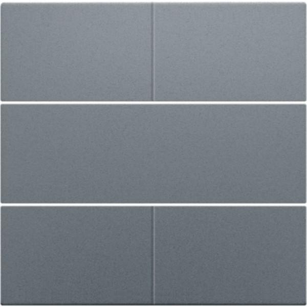 Afwerkingsset voor 4-voudige potentiaalvrije drukknop 24 V, steel grey coated