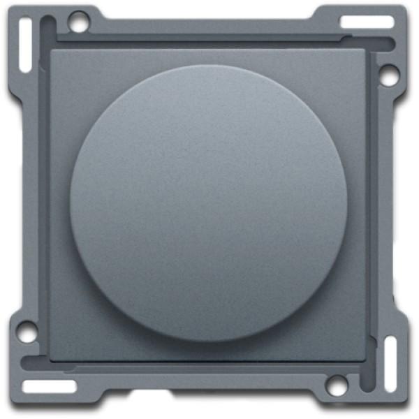 Afwerkingsset op/neer voor draaischakelaar, steel grey coated