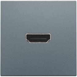 Afwerkingsset met HDMI-naar-HDMI-aansluiting, alu steel grey coated  Niko