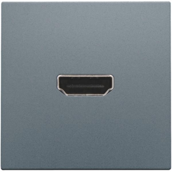 Afwerkingsset met HDMI-naar-HDMI-aansluiting, alu steel grey coated