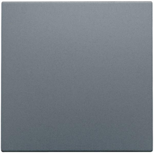 Afwerkingsset met kabeluitvoer voor blindplaat met trekontlasting, alu steel grey coated