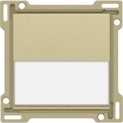Afwerkingsset met tekstveld voor enkelvoudige schakelaar of drukknop, gold coated  Niko