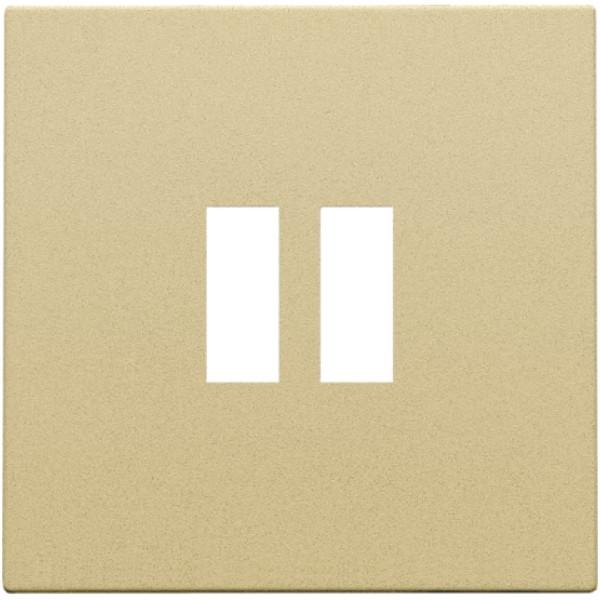 Afwerkingsset voor dubbele USB-A-lader, alu gold coated