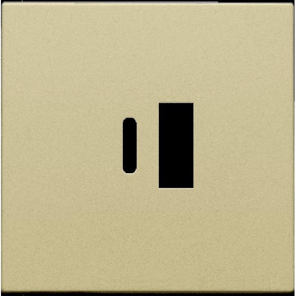 Afwerkingsset voor dubbele smart USB-A en USB-C-lader, alu gold coated