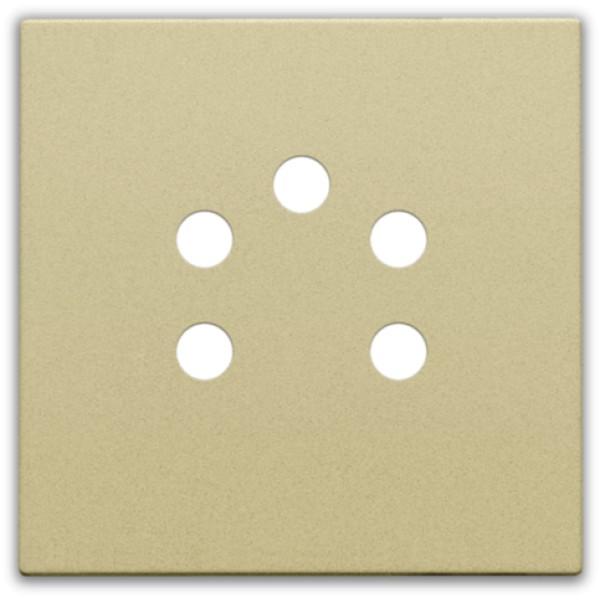 Afwerkingsset voor 5-polige telefooncontactdoos, alu gold coated