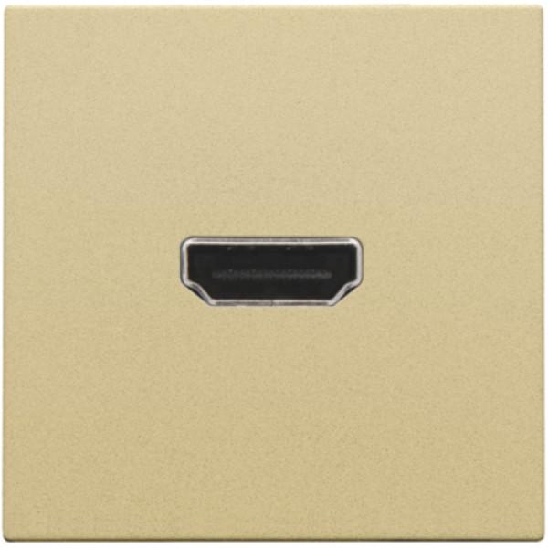 Afwerkingsset met HDMI-naar-HDMI-aansluiting, alu gold coated
