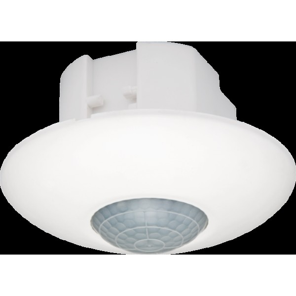 Aan- of afwezigheidsmelder 360°, 230 V, 10 A, één kanaal, om de verlichting aan en uit te schakelen (white)