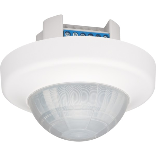 Aan- of afwezigheidsmelder PIR 360°, 230 V, 1 kanaal, 24 m, 10 A, master, voor inbouw (white)
