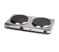 DO311KP Kookplaat 2 pits inox 1500-1500 Watt Domo