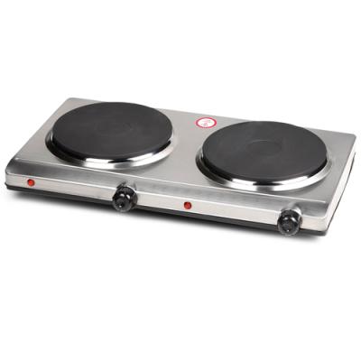 DO311KP Plaque de cuisson 2 plaques inox 1500-1500 Watt Domo