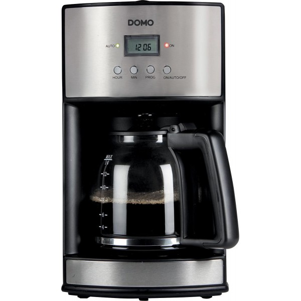 Domo Koffiemachine DO473K Koffiezet met timer Inox 1,8L