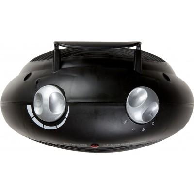DO7324F Warmeluchtblazer Zwart+zilver IP21  Domo