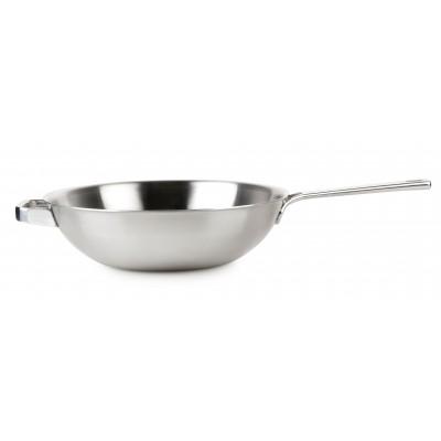 HT1006 Poêle wok inox 30cm Domo