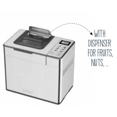 Machine à pain 500-750-1000gr en inox Domo