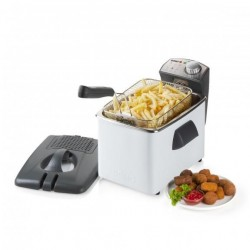 Friteuse inox wit, 4.5L, 3200W  Domo
