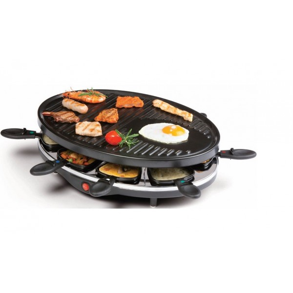 Domo Gourmet DO9038G Raclette, grill & gourmet 1200 Watt 8P