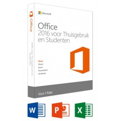 Office Mac Home and Student 2016 NL - 1 Mac  Microsoft