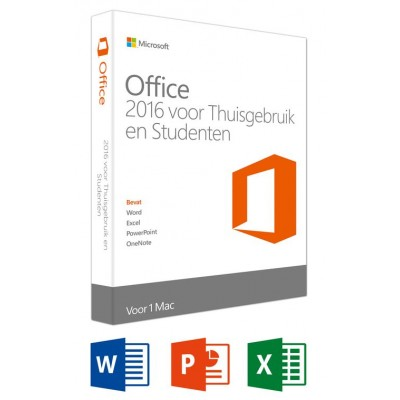 Office Mac Home and Student 2016 NL - 1 Mac  Microsoft