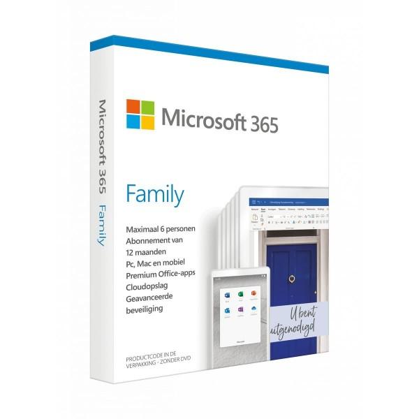 Microsoft Software Office 365 Family Nederlands (12 maanden, tot 6 personen)