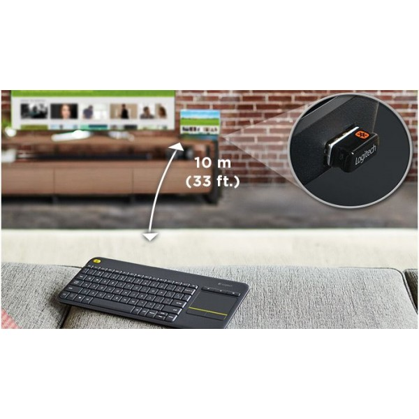 Logitech Toetsenbord K400 plus Black