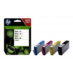 364XL originele high-capacity zwarte/cyaan/magenta/gele inktcartridges, 4-pack