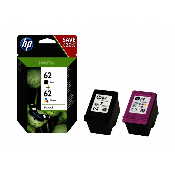 HP Inktpatronen HP 62 inktcartridge 2-PACK
