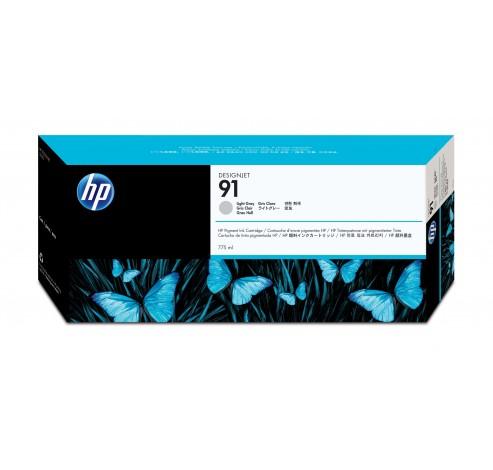 91 lichtgrijze pigmentinktcartridge, 775 ml  HP