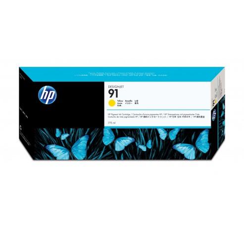 91 gele pigmentinktcartridge, 775 ml  HP