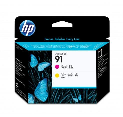 91 magenta en gele printkop  HP