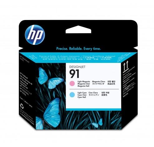 91 licht-magenta en licht-cyaan printkop  HP