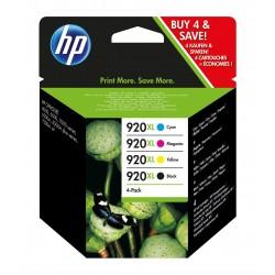 920XL originele high-capacity zwarte/cyaan/magenta/gele inktcartridges, 4-pack HP