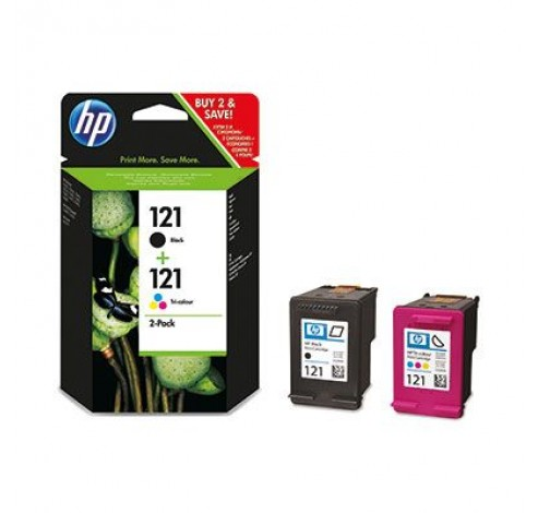 121 Combo-pack Black/Tri-color  HP