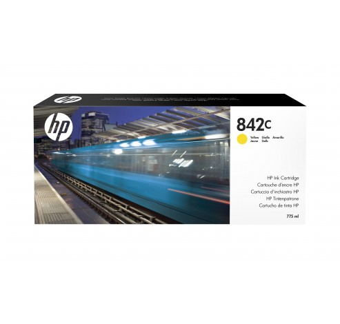 HP 842C - geel - origineel - PageWide XL - inktcartridge  HP