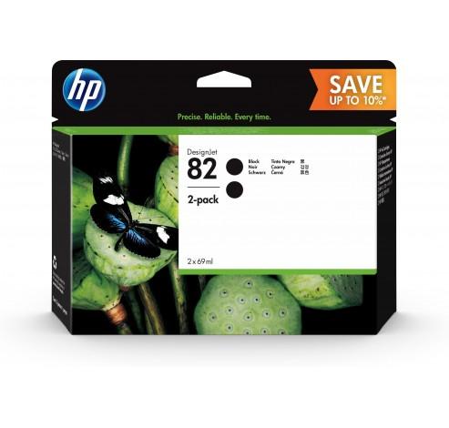 HP 82 - 2 - hoge capaciteit - zwart - origineel - inktcartridge  HP