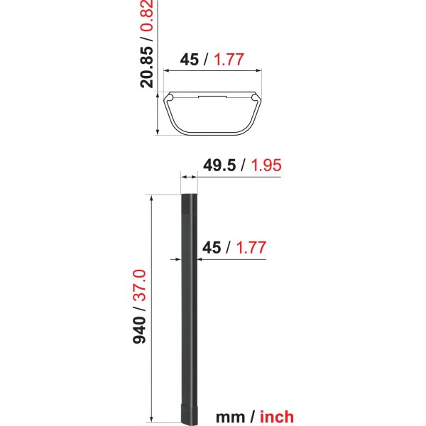 Vogels Flatscreensteun accessoires CABLE 4 BLACK Kabelgoot 94 cm