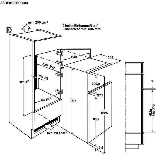 Zanussi Koelkast inbouw ZTAN12ES1