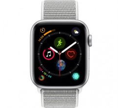 Watch Series 4 44mm Zilver Aluminium / Grijze Sportband Apple