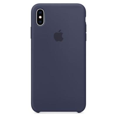 Siliconenhoesje voor iPhone XS Max Middernachtblauw Apple