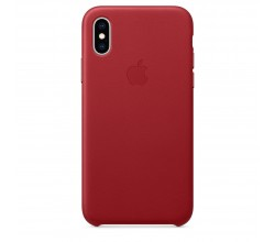 Leren hoesje voor iPhone XS (PRODUCT)RED Apple