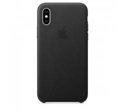 Leren hoesje voor iPhone XS Zwart Apple