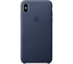 Leren hoesje voor iPhone XS Max Middernachtblauw Apple