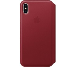 Leren Folio-hoesje voor iPhone XS Max (PRODUCT)RED Apple