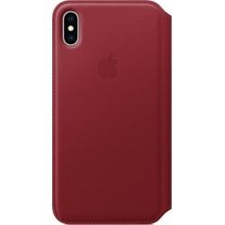 Leren Folio-hoesje voor iPhone XS Max (PRODUCT)RED Apple