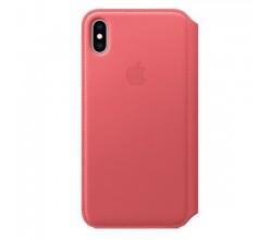 Leren Folio-hoesje voor iPhone XS Max Pioen Apple