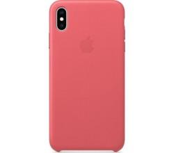 Leren hoesje voor iPhone XS Max Pioen Apple