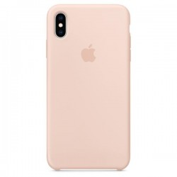 Siliconenhoesje voor iPhone XS Rozenkwarts