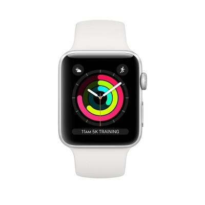 Watch Series 3 38mm Silver Aluminium Case with White Sport Band Apple