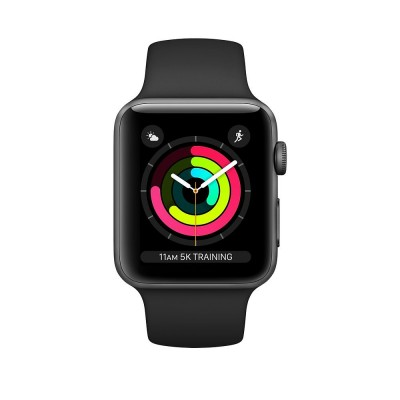 Watch Series 3 38mm Space Grey Aluminium Case with Black Sport Band Apple