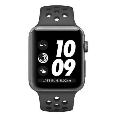 Watch Series 3 42mm Nike+ Spacegrijs Aluminium/ Zwarte Sportband Apple